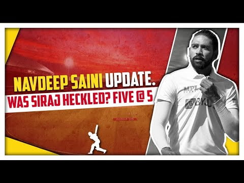 Navdeep Saini Injury Update | Other Sports News | Five @ 5 | Sports Today