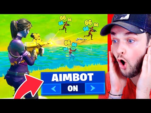 Fortnite PRO turns on AIMBOT! (CRAZY)