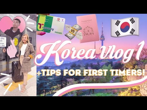 KOREA TRAVEL VLOG DAY 1! + Beginner's Guide/Tips For Travelling To Korea! DIY Itinerary! + GIVEAWAY