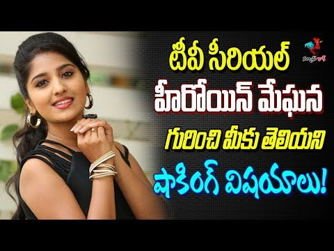 Celebrity stories in telugu | Unknown facts about TV heroine Meghana | Shocking facts in telugu