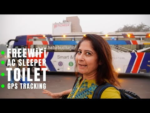 Bus To Delhi | Travelling In India's First AC Smart Bus with Toilet | Kesar Da Dhaba Dinner