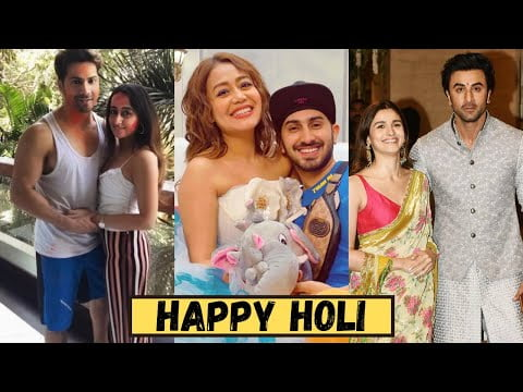 First Holi Celebrations Of Bollywood Couples After Wedding