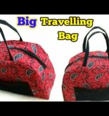How To make Big travel bag at home | DIY travelling bag idea |Best travel bag 2018 |sewing projects