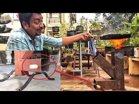 Rocket Stove 🚀 with Flame Controller 🔥 || Best Wood Burning Stove For Travelling & Camping