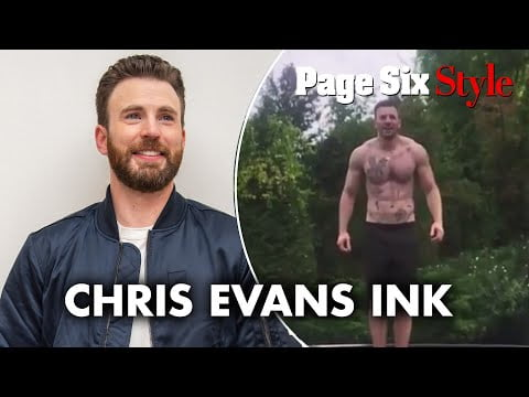 Surprise! Chris Evans is covered in tattoos | Page Six Celebrity News