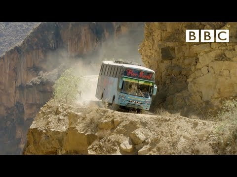 The world's most dangerous bus route 😱 | Mountain: Life at the Extreme – BBC