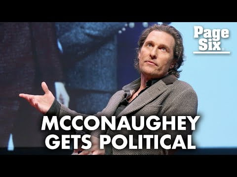 Matthew McConaughey slams Hollywood 'hypocrisy' over 2020 election results | Page Six Celebrity News