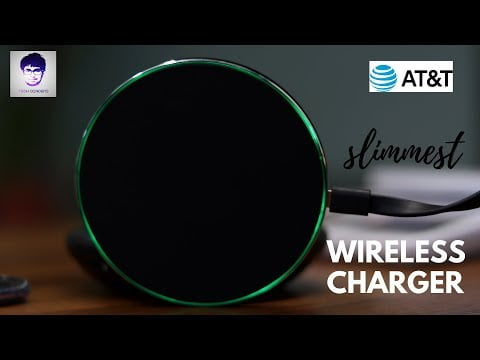 AT&T WC50 5W, Qi-Certified Wireless Charger for travelling.[Slimmest Charger]