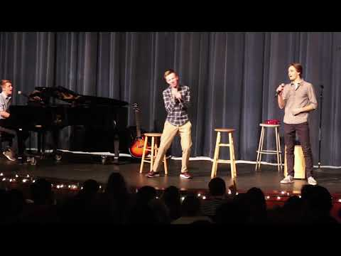High school students sing meme songs at talent show! (All star, Wii song, etc…)