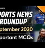 Sports Current Affair 2020   Sports News of September   Last month Sports Questions 2020