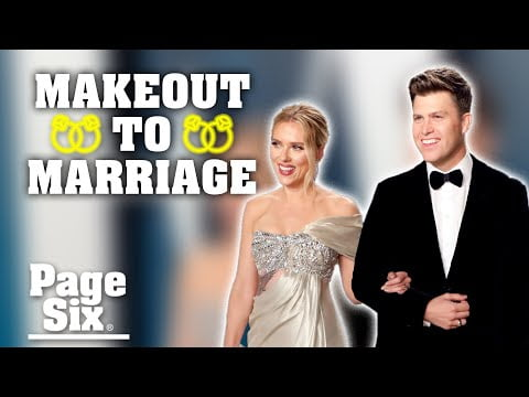 Colin Jost and Scarlett Johansson: 'SNL' makeout to marriage | Page Six Celebrity News