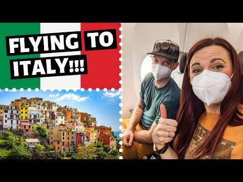 Flying to ITALY from USA  // Travel Vlog 2021 // Italy 2021