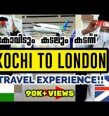 India to UK Flight travel Experience | Travelling with Restrictions | UK malayalam | Steffin Shaji