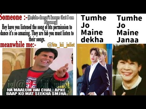 BTS hindi funny memes only army can understand 😊💜💗   BTS meme