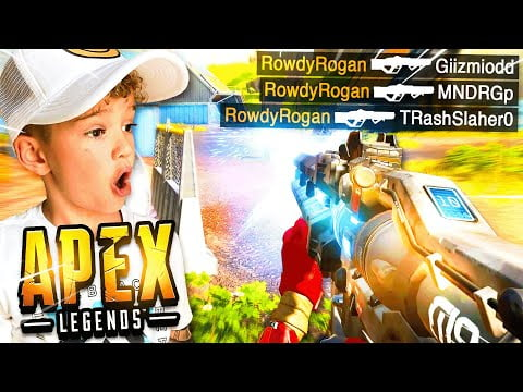 6 Year old CLUTCHES his *FIRST* Apex Legends Game in Season 10!
