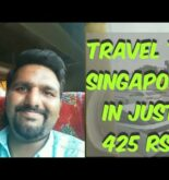 Travelling to Singapore in just 425 Rs|| Cheapest way to travel to Singapore in budget