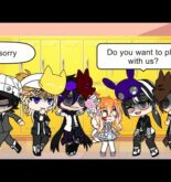 Don't touch me meme but different | when Elizabeth first meet Michael and his friends (MY AU)