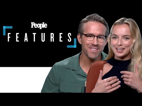 """'Free Guy' Stars Ryan Reynolds & Jodie Comer Say Working Together Was """"Like a Vacation"""" 