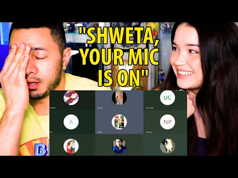 """""""SHWETA YOUR MIC IS ON"""" Meme   Zoom Meeting Reaction by Jaby Koay & Achara Kirk"""