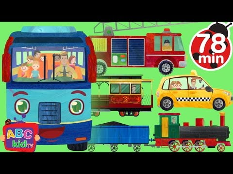 Wheels on the Bus and Vehicles | +More Nursery Rhymes & Kids Songs – CoCoMelon