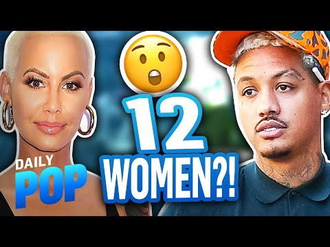 """Amber Rose Says BF Alexander """"AE"""" Edwards Cheated With 12 Women?! 