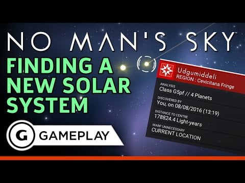 No Man's Sky – Travelling to a New Solar System Gameplay