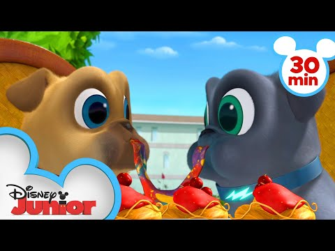 Bingo and Rolly Travel Across Europe! | 30 Minute Compilation | Puppy Dog Pals| Disney Junior