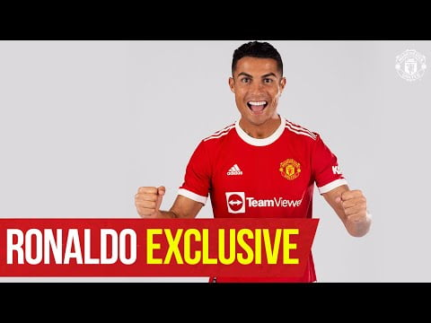 """""""I'm so happy to be back home"""" Cristiano Ronaldo Exclusive Interview   Manchester United"""