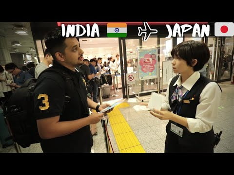 Flying From India To Japan   Flight, Visa, Cost, Rail Pass, Sim Card   Indian in Japan E01