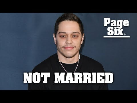 Pete Davidson is not married despite announcement claiming otherwise   Page Six Celebrity News