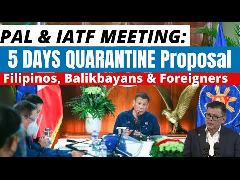 SHORTER QUARANTINE BETTER THAN GREEN LANES PROPOSED BY PAL TO IATF,NORTH AMERICA PRIORITY:CONCEPTION