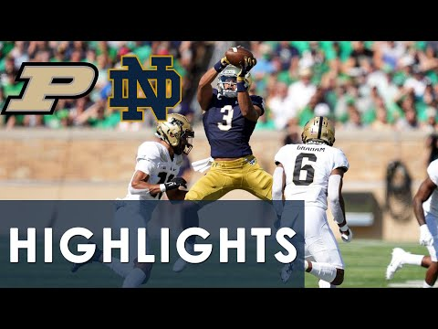 Purdue vs. Notre Dame | EXTENDED HIGHLIGHTS | 9/18/2021 | NBC Sports